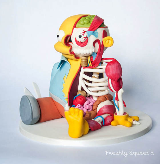 Illustration Like Cake Sculpture of Ralph Wiggum from The Simpsons