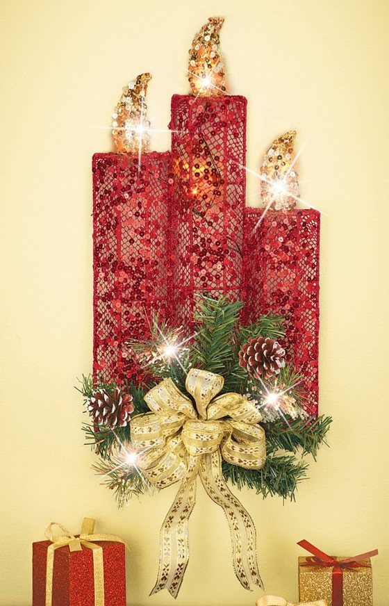 Decorating Ideas > 17 Beautiful Christmas Wall Decoration Ideas – Design Swan ~ 062332_Christmas Decorating Ideas Wall