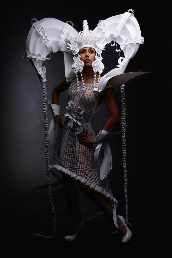 Stunning Paper Wedding Dress by Asya Kozina