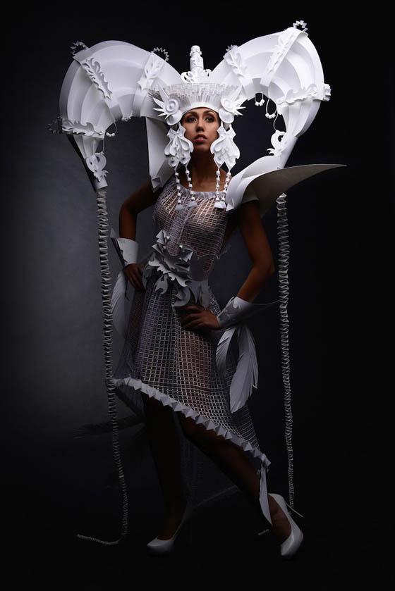 Stunning Paper Wedding Dress by Asya Kozina