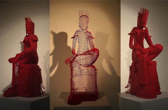Intricately Paper Sculptures Changes from Different Angles