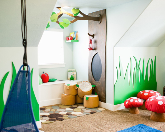 Whimsical Woodland Playroom by Design Loves Detail