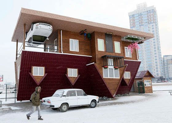 Upside-down House in Siberia, Russia