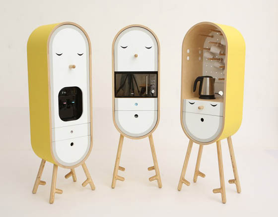 LO-LO: Adorable Capsular Micro-kitchen with Personality