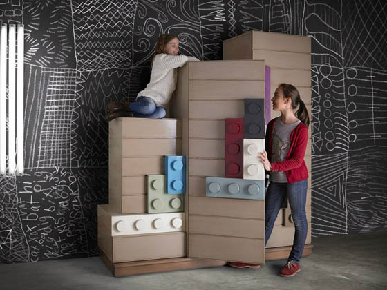Playful LEGO Inspired Kids Bedroom Furniture