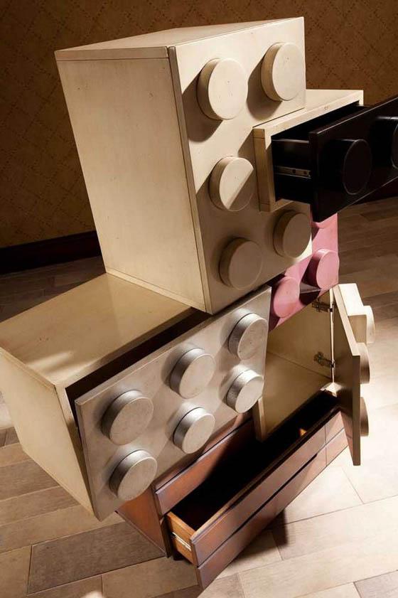 Playful LEGO Inspired Kids Bedroom Furniture