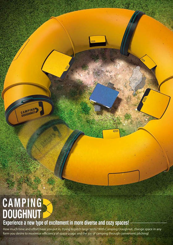 Camping Doughnut: The Effortless Camping Tent