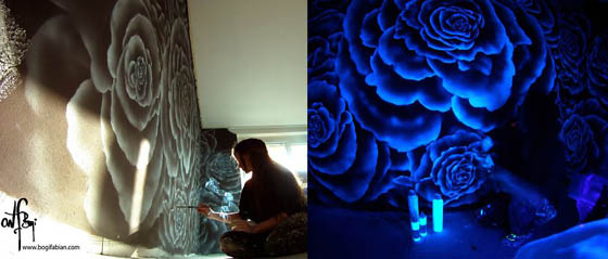 Dreamy Glowing Murals Only Visible Under UV Light
