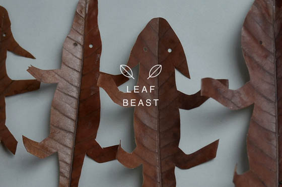 Leaf Beast: Minimal Animal Sculpture Made Out of Magnolia Leaves