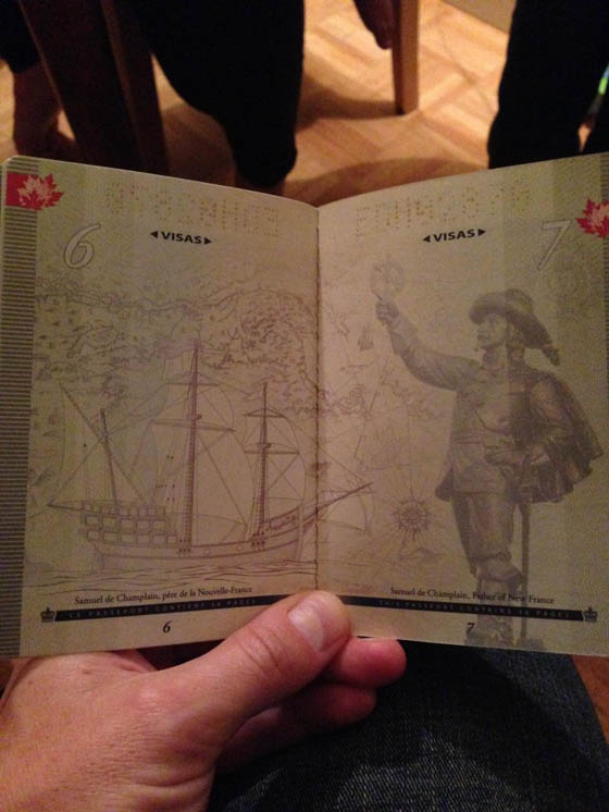 Surprising Design of New Canadian Passport Revealed Under UV Black Light