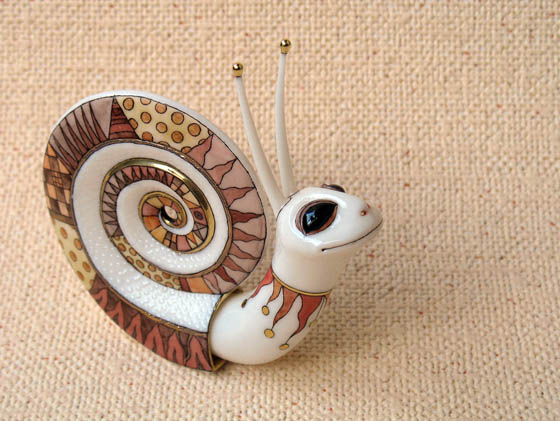 Fantasy and Ornate Painted Porcelain Animals By Anya Stasenko And Slava Leontyev