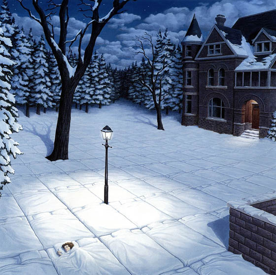 Mind Blowing Optical Illusion Painting by Robert Gonsalves