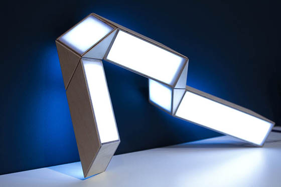 5+5 Lamp: Rubik's Snake Inspired Interactive Lamp