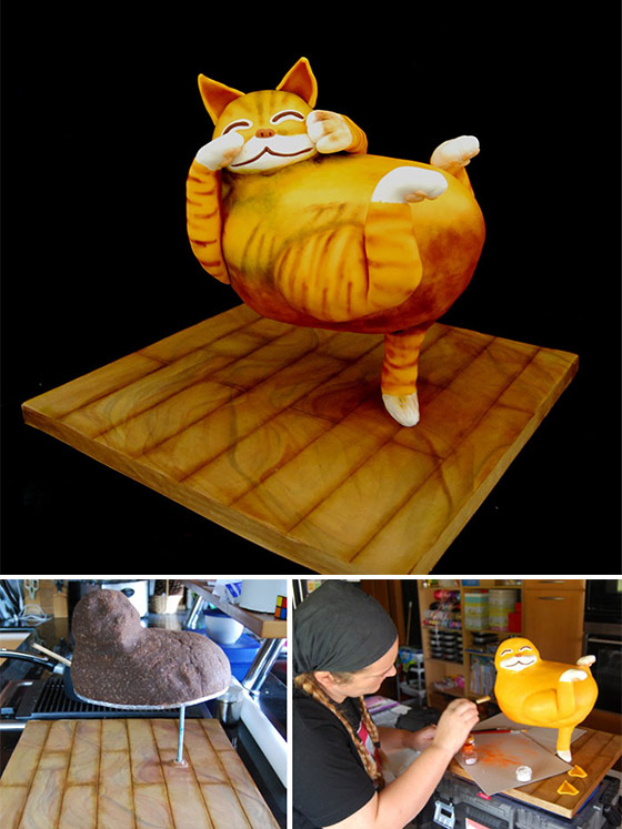 Cake Art Competition : Amazing Cake Sculptures from Threadcakes Contest   Design Swan