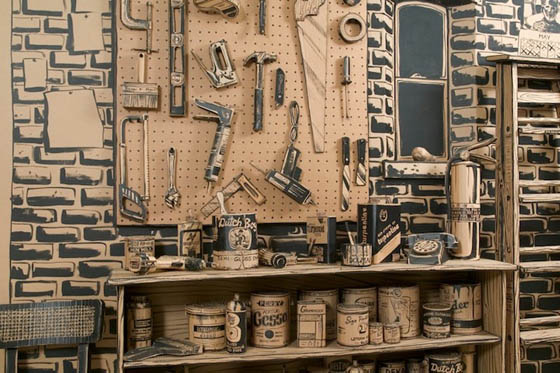 FULL STOP: Full Scale Installation Constructed Entirely Out of Cardboard