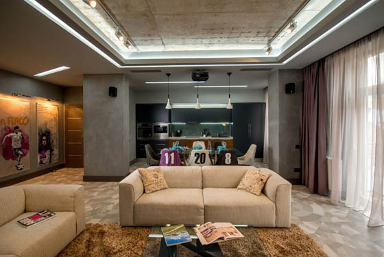 Inspiring and Modern Footballer's Apartment in Ukraine
