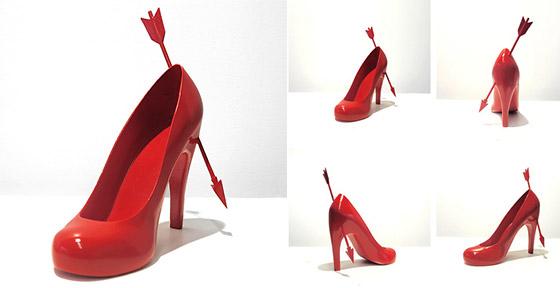 12 Shoe Sculptures for 12 Ex-lovers by Sebastian Errazuriz