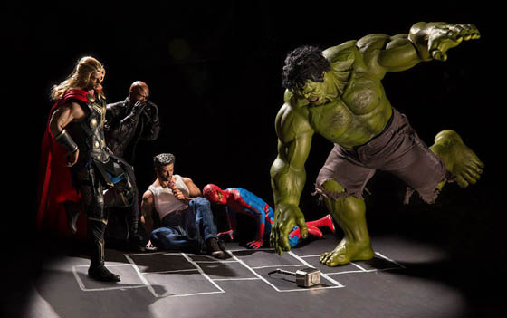 Funny Photography of Secret Life Of Superhero Toys
