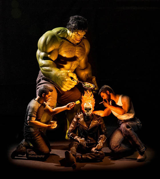 Funny Photography of Secret Life Of Superhero Toys