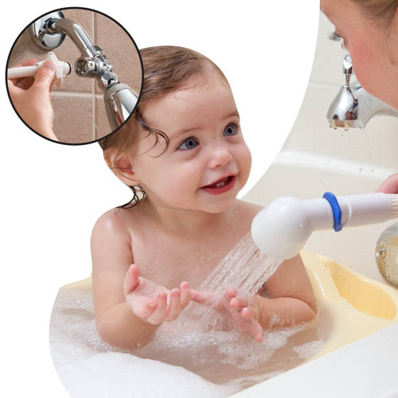 18 cool baby gadgets make moms lives easier design swan for Childrens shower head
