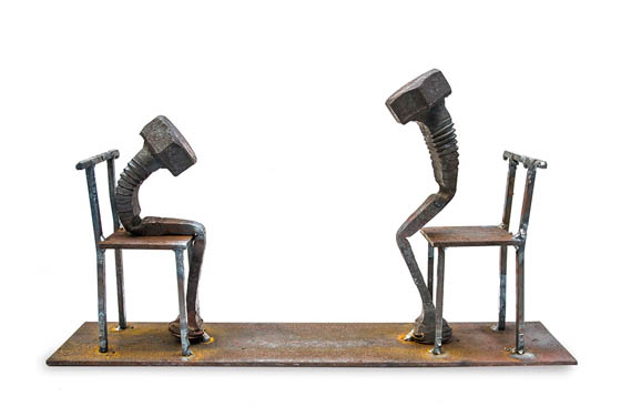 Bolt poetry: Emotional Bolt Sculptures by Tobbe Malm