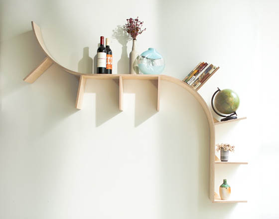 20 of the most creative shelving system designs design swan for Creative shelf ideas