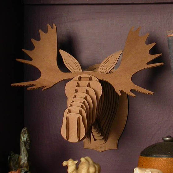 Safari Animals Wall Trophies Made of Cardboard