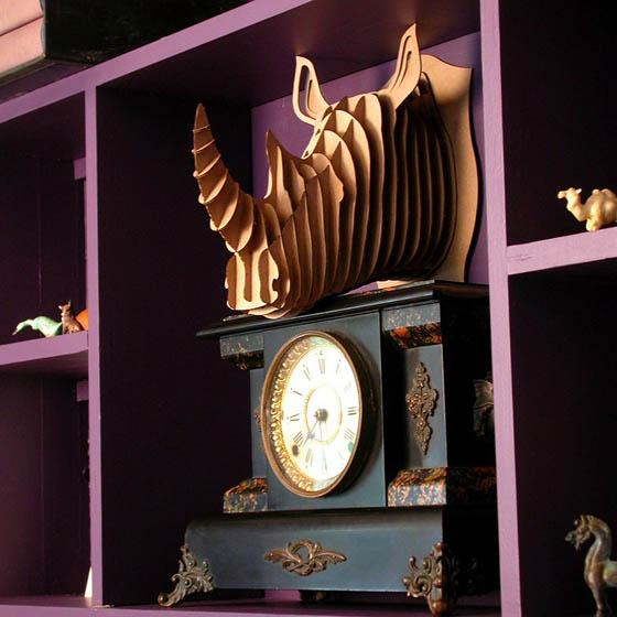 Safari Animals Wall Trophies Made of Cardboard