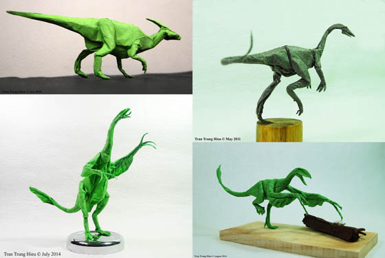 Dinosaur Paper Sculpture by Adam Tran