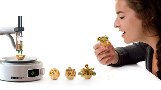 Edible Growth: 3D-printed Snacks that Sprout Plants and Mushrooms