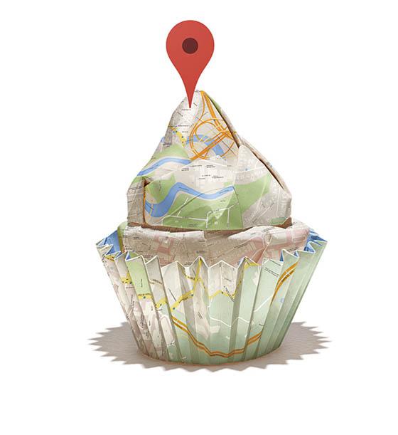 Google Map Origami by BakkenDesign