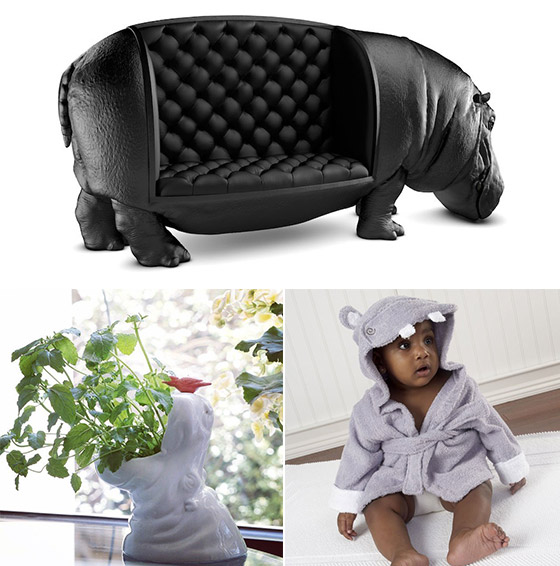 11 Cool Designs in Hippo Shape
