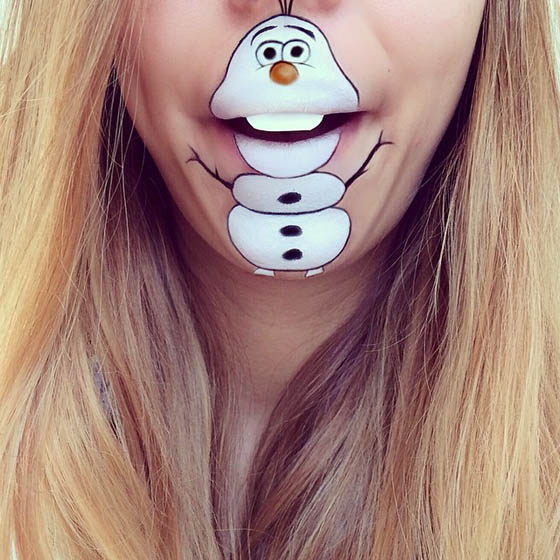 Faces on Faces: Funny Lip Art Creations by  Laura Jenkinson