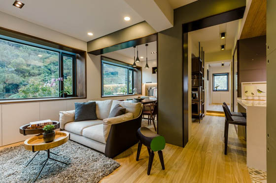 Amazing open concept apartment in taiwan design swan - Open concept apartment design ...