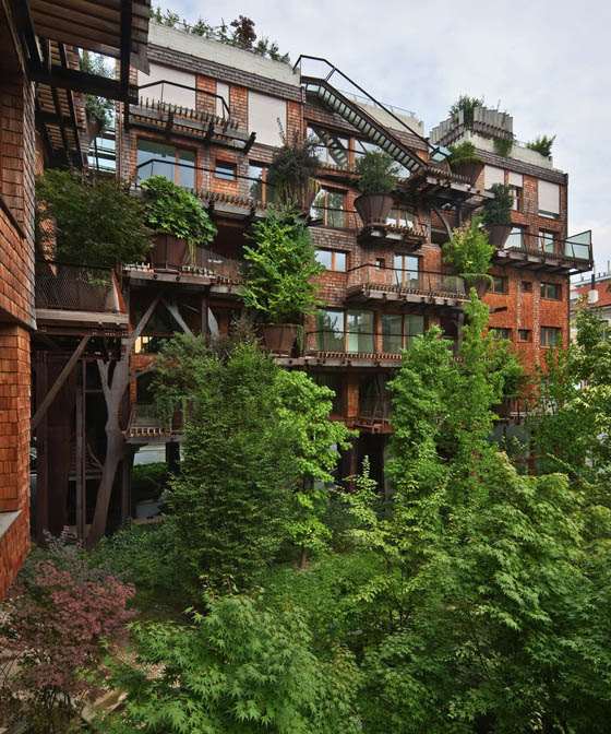 A Multi-Story Urban Treehouse in Turin, Italy