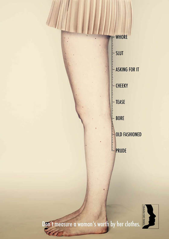 Creative Ad Campaign: Don't Measure Woman's Worth By Her Clothes