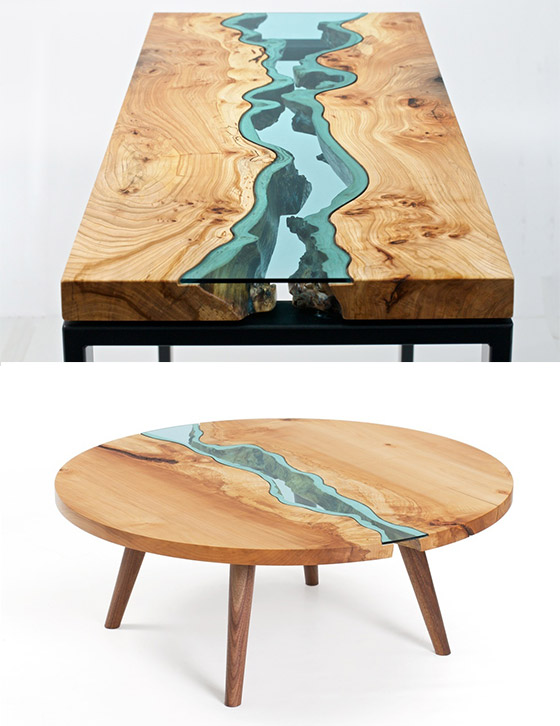 12 cool and creative table designs design swan for Creative design table