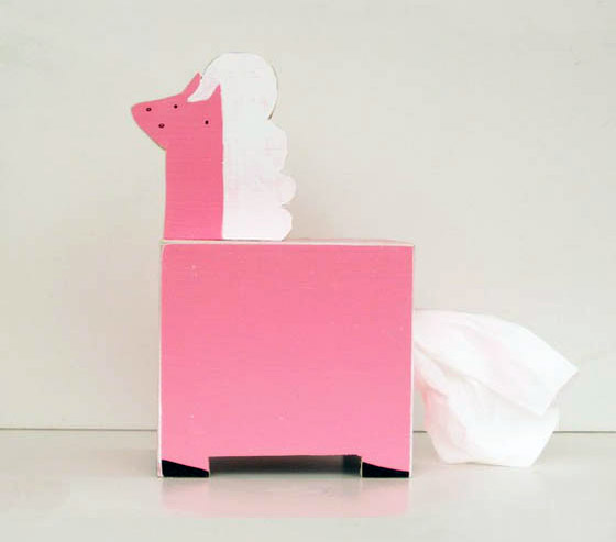 Cute Handcrafted Wooden Animal Tissue Box