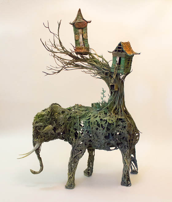 Surrealist Sculptures: a Blend of Plants, Animals, and Occasionally Human-made Structures or Objects