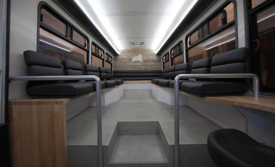 Coffee Shop on Wheel: Luxury Commuter Bus in San Francisco