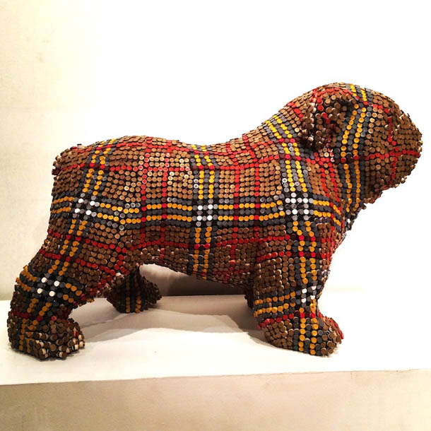 Call of Couture: Dog Sculptures Made of Crayon by Herb Williams