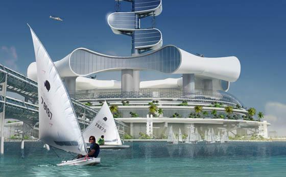 Grand Cancun Eco-complex: Eco-platform with Luxury Resort