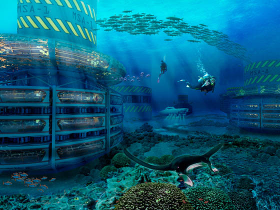 Grand Cancun Eco-complex: Eco-platform with Luxury Resort
