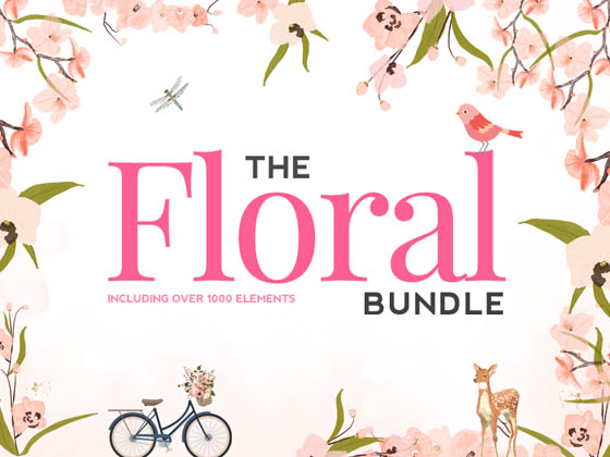 HUGE floral bundle: Over 1000 Beautifully Floral Element