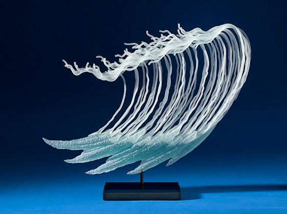 Delicate Free Flowing Glass Sculptures by K. William LeQuier
