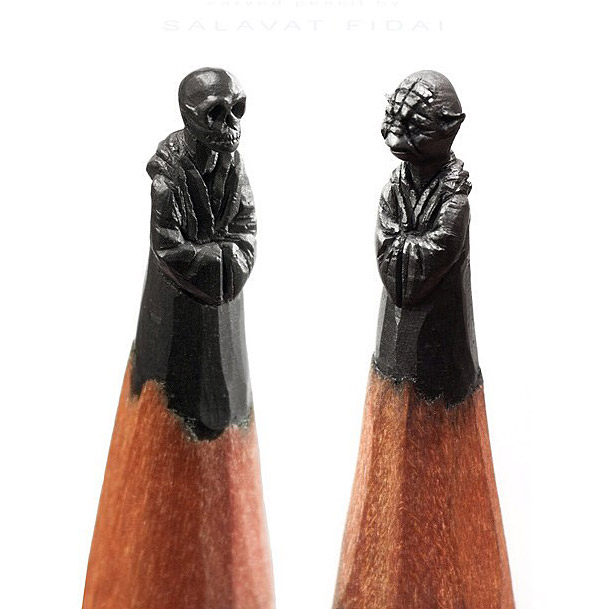 Amazing Miniature Pencil Tip Carving by Salavat Fidai