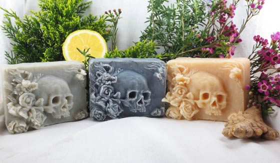 Skull-Shaped Artisan Soaps, Do You Want to Bath With It?