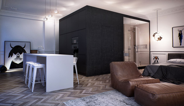 Box Room: a Compact Modern Apartment in Moscow