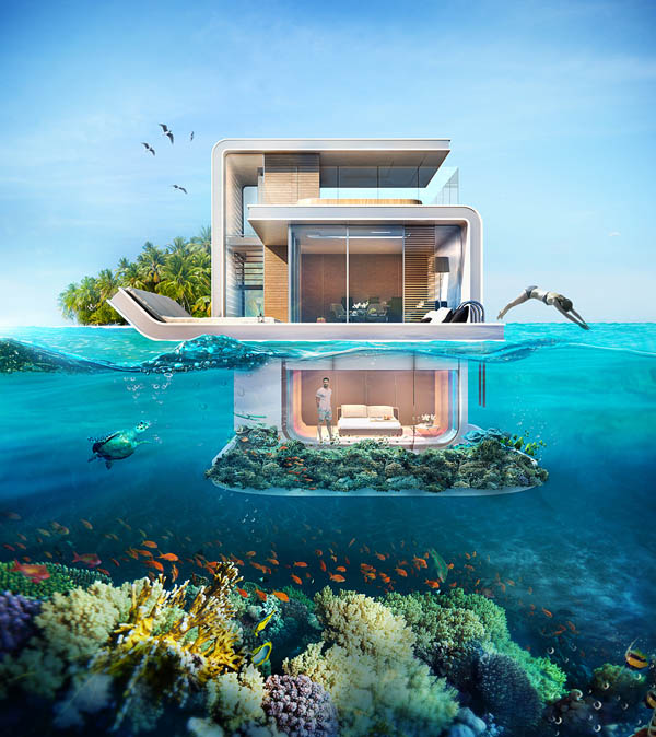 Floating Seahorse: Luxury Floating Villa With Breathtaking Underwater Views