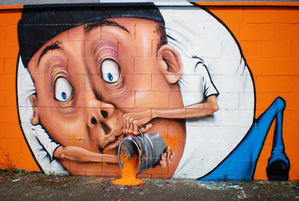 Amusing Street Art by Caiffa Cosimo